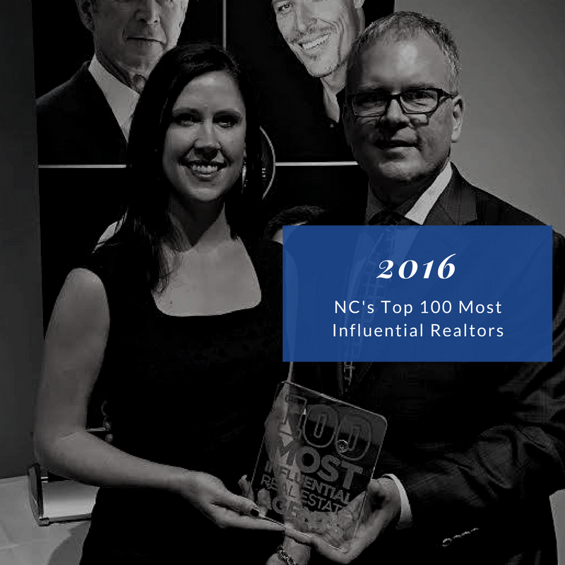 Named one of NC's Most Influential Realtors